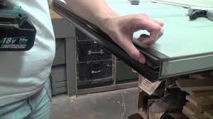 Exterior Door Seals Thresholds by How To Replace A Door Bottom Sweep In Wrap Around L