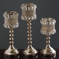 Crystal Chandelier Centerpiece Crystal Beaded Gold Votive Candle Holder Wedding Chandelier