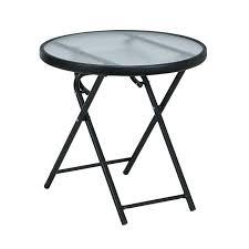 patio round glass folding patio table round folding outdoor