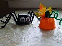 halloween crafts for toddlers simple spiders and pumpkins