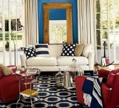 Red And Blue Living Room - Red and blue living room decor