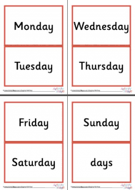 calendar letter cards