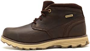 caterpillar mens elude waterproof leather lace up hybrid hiker