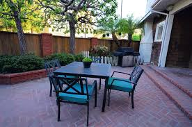 Patio Furniture Long Beach Ca by Traditional Patio With Outdoor Kitchen U0026 Exterior Herringbone Tile