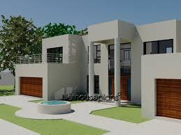 4 bed room modern style house plan nethouseplansnethouseplans