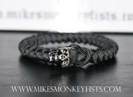 black survival bracelet images Paracord bracelet w large metal skull gif
