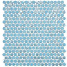Penny Tile Kitchen Backsplash by Watery Blue Penny Tile Makes A Gorgeous Kitchen Backsplash Or