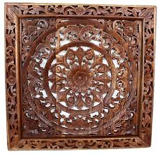 carved wood framed wall wall decor nature carved wood photo gallery kan thai decor