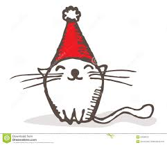 christmas cat stock photography image 34698972