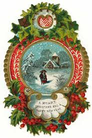 beautiful christmas greeting from days gone by pinned by
