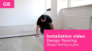 Glue Laminate Flooring Installation Video Laying Instruction Vinyl Flooring To Glue