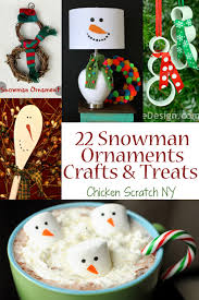 22 snowman crafts ornaments and treats