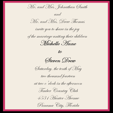 invitation wordings for marriage wedding invitation wording both parents design wedding
