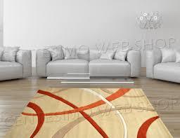 tappeto soggiorno tappeto moderno 2 misure arredo panna beige arancio ufficio