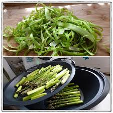 cuisiner asperges vertes fraiches tagliatelles fraîches aux asperges vertes version avec thermomix