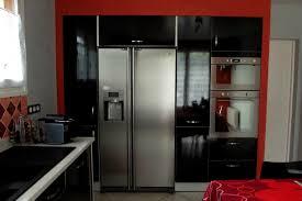cuisine du frigo cuisine stratifié noir brillant menuiserie sébastien duc