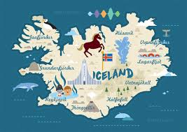 Iceland World Map Michelle Hird Iceland Map