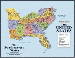 Southeastern United States Map by Southeast Map Images Reverse Search
