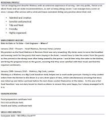 trendy design ideas waitress resume skills 13 modern example cv