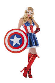 halloween costumes captain america captain america sassy costume by disguise foxy lingerie