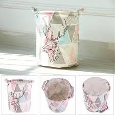 panier rangement chambre b cerfs motif sac à bébé enfants jouet vêtements toile
