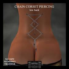 Back Corset Piercing Images Second Marketplace Demo Doll Chain Corset Piercing
