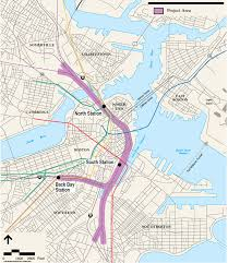 Silver Line Boston Map by Alignment U2014 North South Rail Link