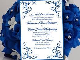 wedding invitations royal blue blue wedding invitations templates lake side corrals