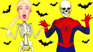 frozen elsa u0026 spiderman halloween w maleficent joker spidergirl