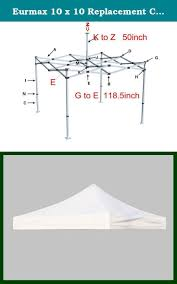 First Up Replacement Canopy by Eurmax 10 X 10 Replacement Canopy Top Cover Pop Up Canopy