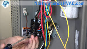 how to replace a contactor relay hvac a c contactor replacement