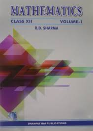 mathematics class xii set of 2 volumes r d sharma