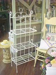 Bakers Rack Wrought Iron Shabby Chic Vintage Wrought Iron Planter Plant Stand Bakers Rack
