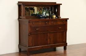 Beveled Mirror Sold Arts U0026 Crafts Mission Oak 1905 Antique Sideboard Server
