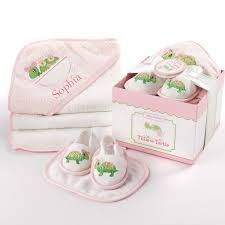 personalized gift for baby tillie the turtle four bathtime gift set