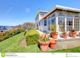 luxury big house with beautiful curb appeal stock images image