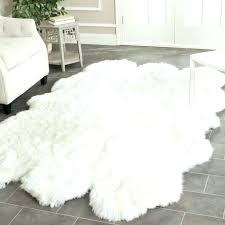 Plush Area Rugs White Fluffy Area Rug Tapinfluence Co