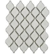 Arabesque Backsplash Tile by Arabesque Tile Matte White Mosaic Tile Free Shipping