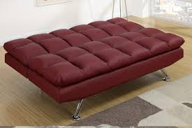 Fake Leather Sofa by Red Leather Twin Size Sofa Bed Steal A Sofa Furniture Outlet Los
