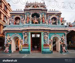 Hindu Temple Floor Plan by Sri Vadapathira Kaliamman Temple Little India Stock Photo