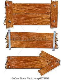 wood sign illustration of blank wooden signs boards clip