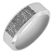 mens wedding bands cobalt fingerprint rings india tags fingerprint wedding ring best