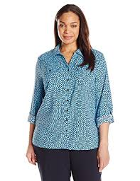 notations blouses notations s plus size printed sleeve blouse