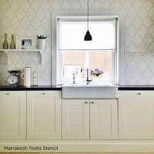 kitchen stencil ideas 32 best stencil backsplash images on kitchen