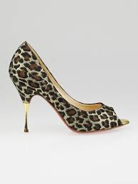 golden chain christian louboutin size 5 5