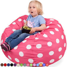 Oversized Bag Chairs Amazon Com Oversized Bean Bag Chair In Candy Pink U0026 White Polka