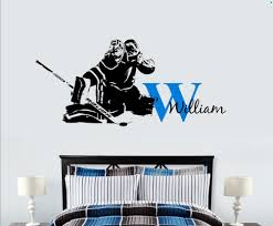 aliexpress com buy custom name hockey goalie decal ice hockey aliexpress com buy custom name hockey goalie decal ice hockey goaltender personalized name hockey player decor wall art vinyl sticker mural a201 from