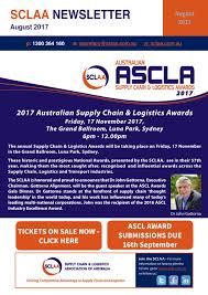 sclaa newsletter august 2017 by supply chain u0026 logistics