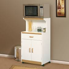 Kitchen Storage Furniture Ideas Furniture Natural Wood Microwave Carts With Storage Cabinet For