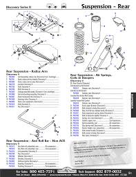 discovery ii rear axle suspension rovers north classic land